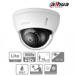 Камера Dahua HAC-HDBW1200E-0360B, 2MP, куполна, HDCVI, 1080p, 3.6мм, IP67, ден/нощ 30м.