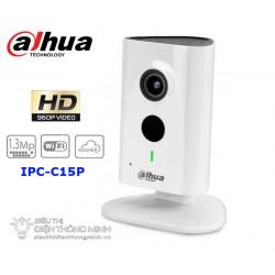 Камера Dahua IPC-C15, 1.3MP CMOS, 1280x960, H.264/MJPEG, WiFi, Micro SD слот, ден/нощ 10м